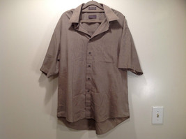 Van Heusen Gray Patterned Short Sleeve Wrinkle Free Shirt Size 16 to 16.5