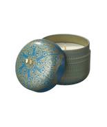 Veda Vintage Tin Travel Candle Sapphire Invigoration Energy Kapha Ocean ... - $39.59