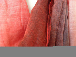 Attractive Crimson Red Pink Shimmery Material Fashion Scarf Made in China image 4