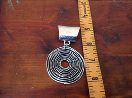 Attractive Silver Tone Round with Relief Scarf Pendant by Magic Scarf image 4