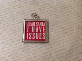 Versatile Dear Santa I ... Reversible to Tis the Season... Metal Glass Tag Charm