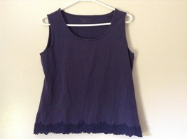 Very Cute Blue Tank Top by Coldwater Creek Size Medium 10 to 12
