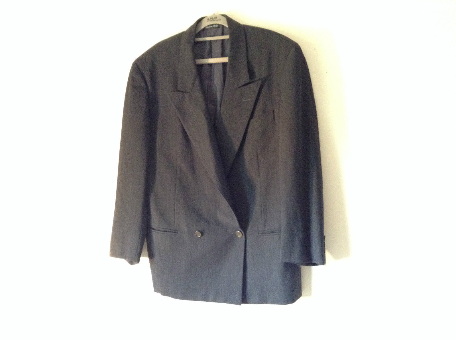 Verri Uomo Italian Suit Jacket Very Dark Gray 100 Percent Wool Size 50