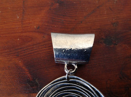 Attractive Silver Tone Round with Relief Scarf Pendant by Magic Scarf image 3