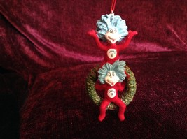 Very Cute Thing One and Thing Two Christmas Wreath Ornament