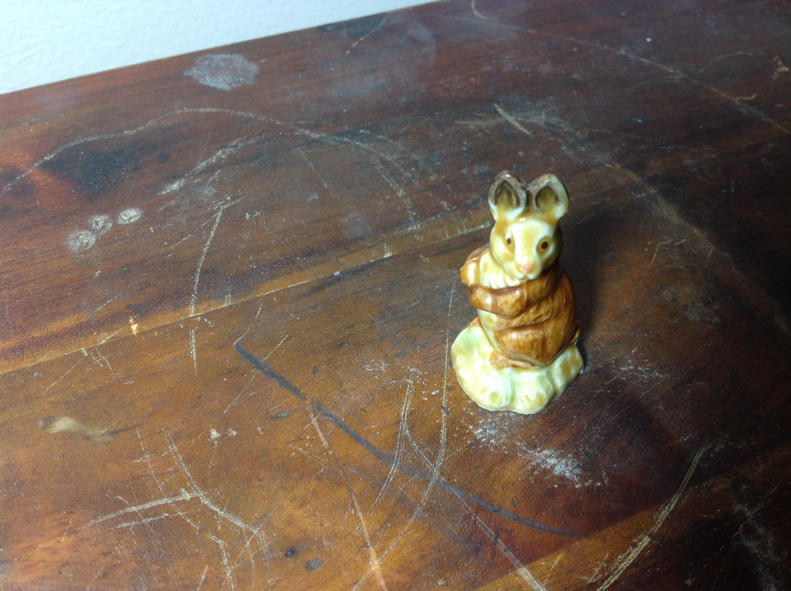 Very Cute Small Green Hare Figurine Made in England Wades