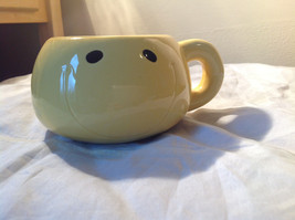 Very Cute Smiling Big Round Yellow Mug 5 Inches by 3 Inches