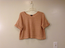 Very Light Pink H and M Wide Scoop Neck Short Sleeve Top Size Small