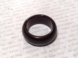 Very Dark Rounded Brown Natural Stone Ring Sizes 7 OR 9 OR 10 OR 10.5