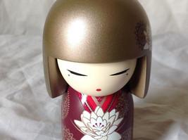Satoko Sincerity Gold Hair Maroon Dress Flower Kimmi Maxi Doll Asian Style image 6