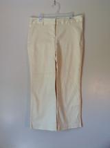 Very Cute Yellow Dress Pants by Powder Blu Size 8 Zipper and Two Slide Closure