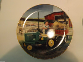 """Set of 2 Danbury Mint Collector's Plates """"Clean and Shiny"""" and """"Pitching In"""" image 2"""