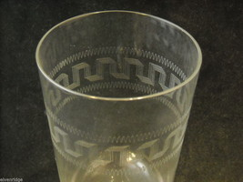Set of 2 Pint Glass and 4 small punch glasses delicate copper wheel image 2