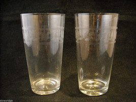 Set of 2 Pint Glass and 4 small punch glasses delicate copper wheel image 7