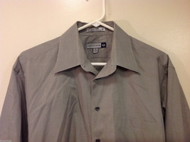 Savile Row Gray Easy Care Classic Shirt, Size 16 (34/35) image 3