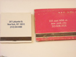 Set of 10 Matchbooks from NYC and Saugerties, NY image 7