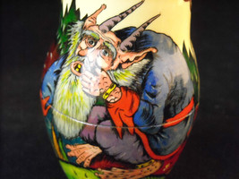 Set of 10 Large Russian Nesting Doll Lacquered Wood folk tale scenes  Shebabonof image 8