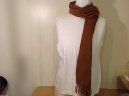 Scots Regal Brown Warm Soft Scarf made in Scotland image 3