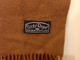 Scots Regal Brown Warm Soft Scarf made in Scotland image 6