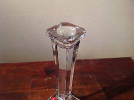 Authentic Austrian Glass Candlesticks Elegant Sturdy Crystal Clear Mikasa image 3