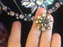 Aurora crystal flower pendant stunning image 2
