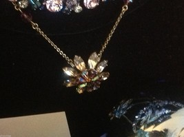 Aurora crystal flower pendant stunning image 6
