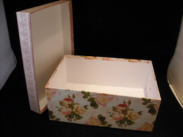 Set of 4 Storage Containers, 2 Clear Acrylic, and 2 Rose Designed image 5