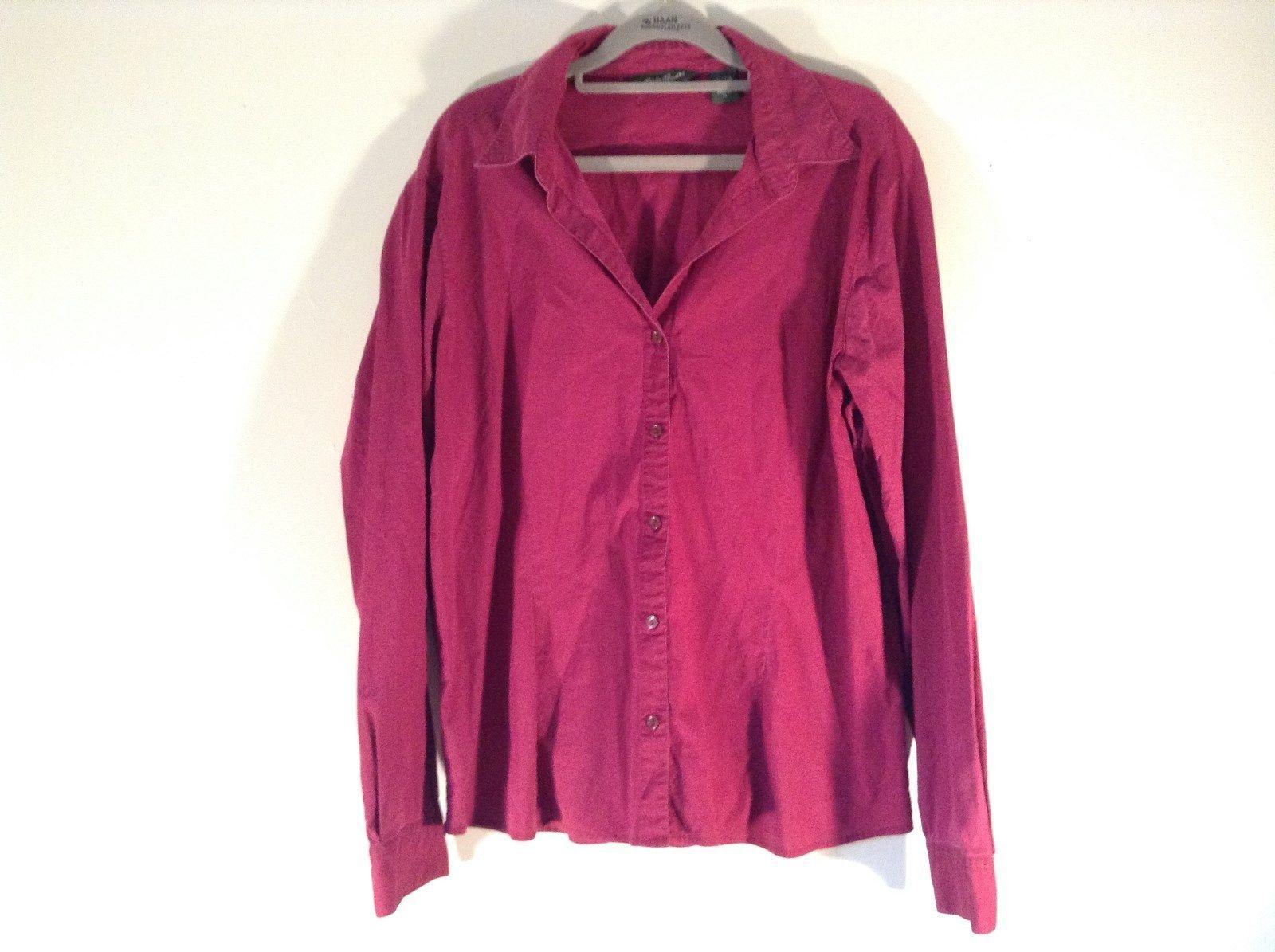 Very Nice Long Sleeve Magenta Eddie Bauer Button Down Shirt Size XL