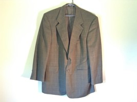 Very Nice Gray Plaid Suit Jacket Blazer Size 43R Todays Man 100 Percent Wool