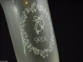 Set of Wedding Toasting Glasses 2 champagne flutes engraved bride groom in box image 5