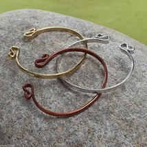 Set of three copper silver gold rustic bangle set NEW image 2