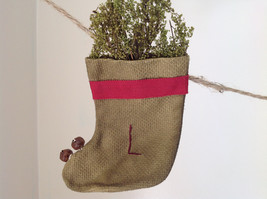 Seven Hanging Christmas Stocking Ornaments BELIEVE Garland image 8
