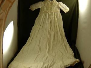 Victorian infant baby christening gown lace trim
