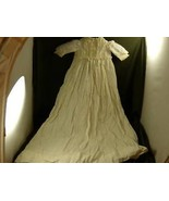 Victorian infant baby christening gown lace trim - $148.49