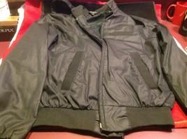 Very small classic black lightweight spring windbreaker jacket - $34.64