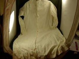 Victorian long sleeve button down night gown chemise
