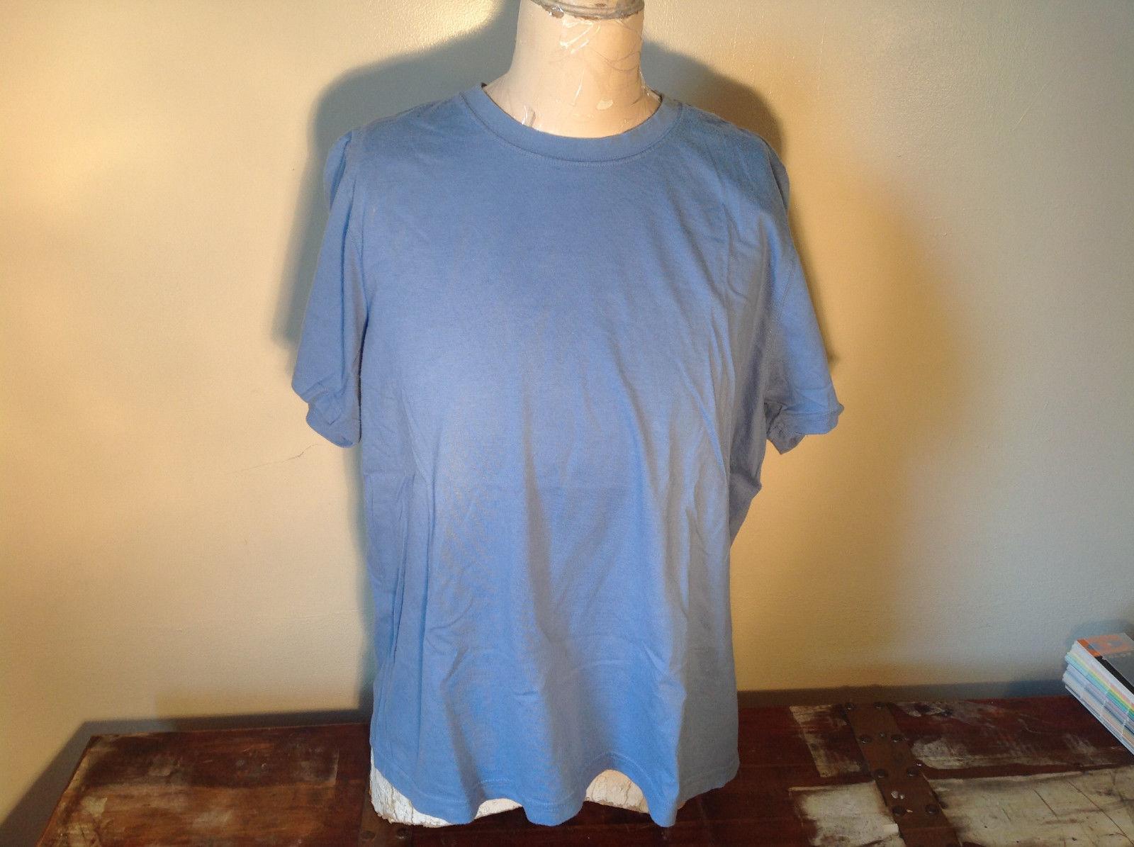 Very Soft L L Bean Short Sleeve Light Blue Shirt Size XL