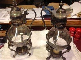 Set of two vintage silverplate serving coffee and tea carafes image 2