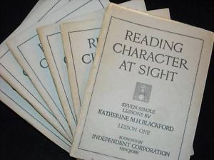 Vintage 1918 reading character at sight lessons 1-6