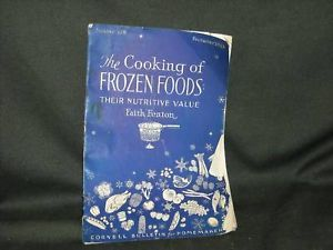 Vintage 1943 Cooking Frozen Food Booklet Fenton Cornell Bulletin