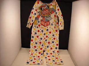 Vintage 1966 Child's Jack in the Box Costume PJs