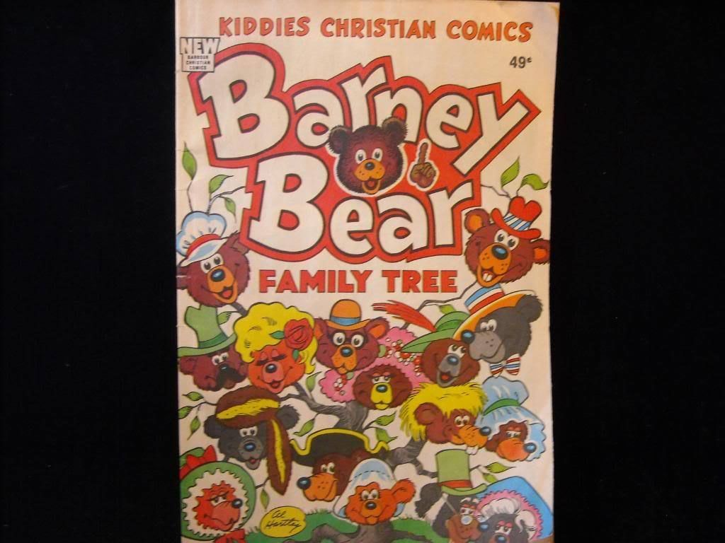 Vintage 1988 Barney Bear Kiddies Christian Comics
