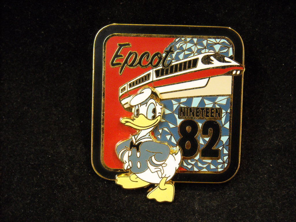 Vintage 2007 Disney Epcot 1982 Donald Duck Official Trading Pin