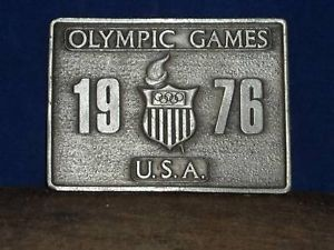 Vintage 1976 Olympic Games Belt Buckle Bergamot Brass