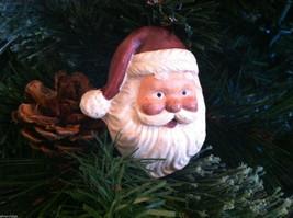 Set of 6 Santa Head Christmas Ornaments with flat back image 2