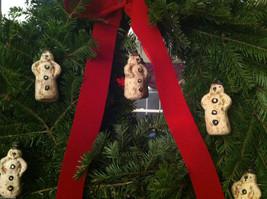 Set of 6 Vintage Looking Rustic Snowmen Christmas Ornaments image 2