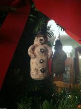 Set of 6 Vintage Looking Rustic Snowmen Christmas Ornaments image 5
