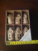 Set of 6 Vintage Looking Rustic Snowmen Christmas Ornaments image 8