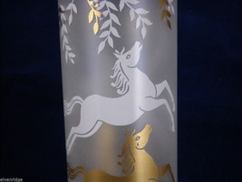 Set of 8 Iced Tea Glasses with Enamel Overlay of Horses image 3