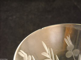 Set of 9 wine glass stemware with copper wheel design of leaves and  berries image 4